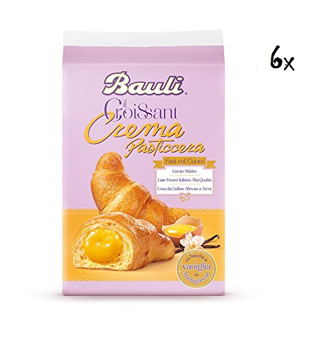 36x Bauli Italian Cornetti Croissants with Patisserie Cream Custard 50g