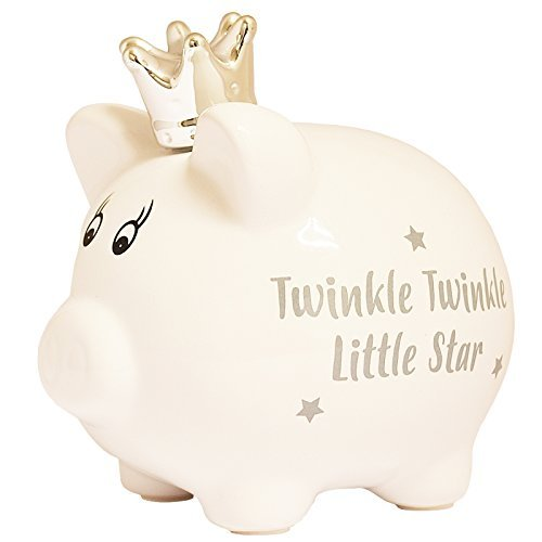 Baby's First Piggy Bank Twinkle Twinkle Little Star Traditional Money Box (Bank Piggy Baby)
