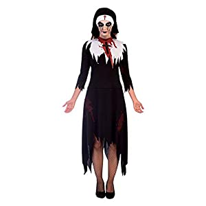 Amscan Womens Halloween Deadly Nun Costume Ladies Fancy Dress