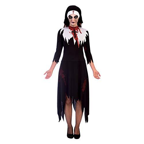 Kostüm Halloween Nonne - Amscan Tödliche Nonne Halloween Kostüm Damen