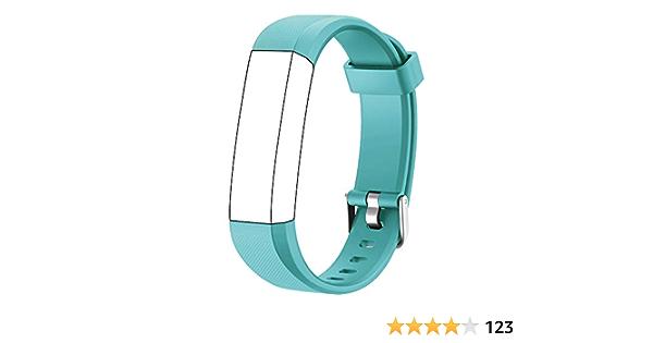 Muzili Verstellbares Ersatz Armband Für Fitness Tracker 5 Farben Schwarz Pink Grün Blau Lila Grün Sport Freizeit