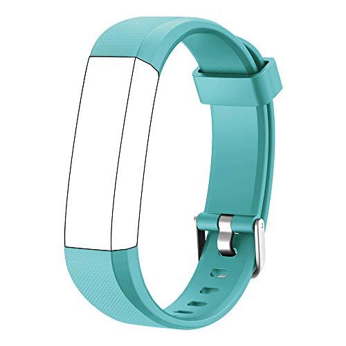 Muzili Verstellbares Ersatz-Armband für Fitness-Tracker, 5 Farben Schwarz, Pink, Grün, Blau, Lila, Grün