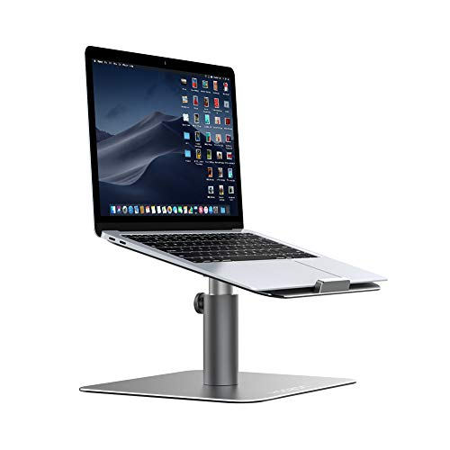Yoozon Laptop Ständer, Multi-Winkel 360°Höhenverstellbar Notebook Ständer Universal Haterung für Apple Macbook,Tablet, Dell, HP, Samsung, Lenovo und alle 9-17 Zoll Notebooks (Silbergrau) (Apple-laptop Book Mac)