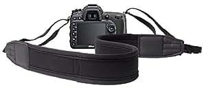 DURAGADGET Bandoulière / tour de cou ajustable en néoprène noir pour Nikon Coolpix P610, Canon PowerShot SX410 IS et Pentax XG-1 appareils photo Bridge - DURAGADGET