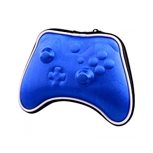 OSTENT Air Foam Hard Pouch Tasche Hülle kompatibel für Microsoft Xbox One Wireless Controller – Farbe Blau