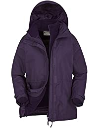 Mountain Warehouse Chaqueta 3 en 1 Mujer impermeable Fell Forro Polar Desmontable