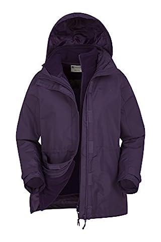 Mountain Warehouse Veste Femme Etanche 3 en 1 Intérieur Polaire détachable Fell Violet 46