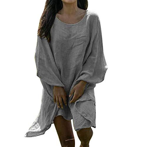 Damen Frühling und Sommer T-Shirt,Rifuli® Mode sexy einfarbig lose und Fledermaus Langarm-Top Bekleidung Damen Pullover Strickjacken Tops