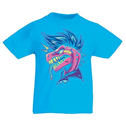 T shirts for kids Punk Dino (7-8 years Light Blue