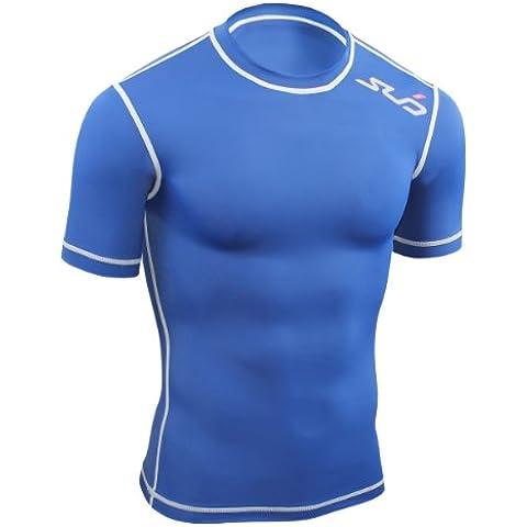Sub Sports, Maglietta a compressione Bambino Biancheria intima tecnica Base Layer Kurzarm, Blu (Navy), 152/164 cm