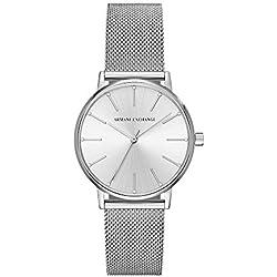 Armani Exchange Reloj Analógico para Mujer de Cuarzo con Correa en Acero Inoxidable AX5535