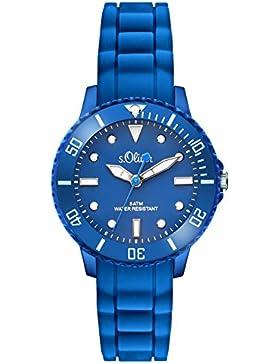 s.Oliver Time Unisex Erwachsene-Armbanduhr SO-3299-PQ