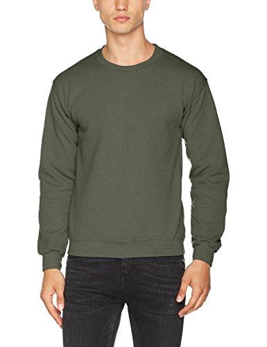 Gildan Herren Heavy Blend Sweatshirt mit Rundhalsausschnitt, Green (Military Green), S