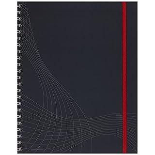 AVERY Zweckform 7025 Notizbuch notizio (A4, Hardcover, Doppelspirale, kariert, 90 g/m²) 90 Blatt, dunkelgrau