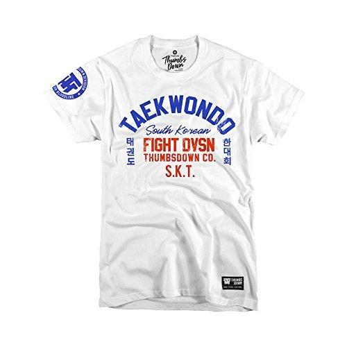 Thumbsdown Thumbs Down Taekwondo T-shirt. South Korean Fight DVSN. MMA. Kampfkünste. Gym. Training. Martial Arts(Größe XLarge)