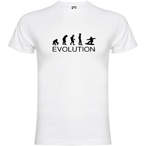 kruskis Camiseta Esqui Evolution Snowboard Manga Corta Hombre Blanco S