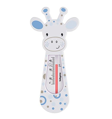 Schwimmendes Badethermometer, Design: Giraffe, babysicher - Lila