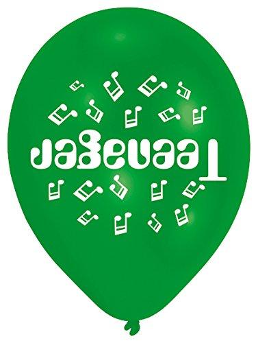 amscan 22,8cm Teenager 10Latex-Luftballons, grün
