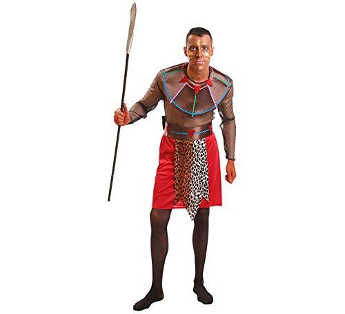 Imagen de disfraz de guerrero masái para hombre