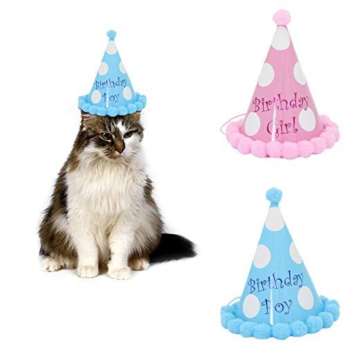 Legendog Katze Hut, Partei-Hut-Mode-kreativer dekorativer Geburtstags-Hut Partei-Kegel-Hut für Haustier