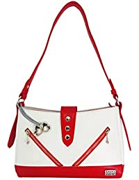 I Define You Latest Trend RED::WHITE Color Party Wear Handbag & Sling Bag For Girls And Women's