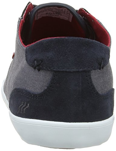 Boxfresh Stern, Sneakers Basses Homme Gris (Grey/Chilli Red)