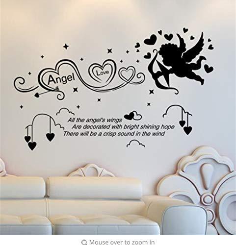 Lsfhb Kundenspezifische Bogenschießen Engel Wandaufkleber Zitate Vinyl Diy Wandkunst Für Kinderzimmer Kindergarten Dekoration 49X80 Cm