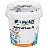 Heitmann Oxi Power Weiss: Fleckenlöser weiße Wäsche, Wäscheweiß entfernt hartnäckige Flecken und Vergrauungen, 750g