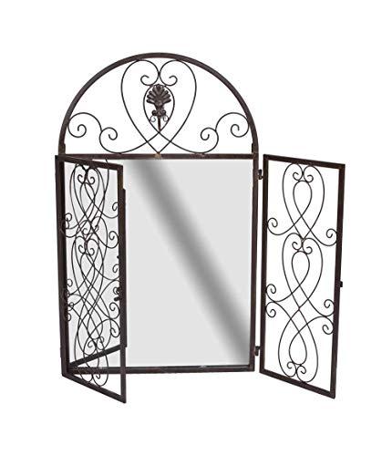 Wandspiegel Landhausstil Spiegelfenster Metall Spiegel Fensterläden Rundbogen aja230 Palazzo Exklusiv