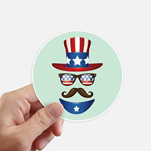 DIYthinker Amérique Oncle Sam I Want You Round Stickers 10CM Mur Valise pour Ordinateur Portable Motobike Decal 8Pcs diamètre 10Cm Multicolor