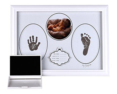 ruck und Fußabdruck Fotorahmen Kit für Neugeborene Jungen und Mädchen, Baby-Papier erstellen Babys Drucke, erstaunliche Baby-Dusche-Geschenke ()