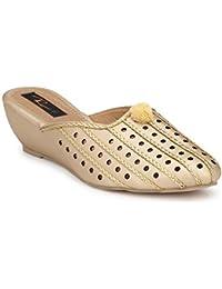 RIMEZS Slip On Party-Wear Ethnic Heels for Women & Girls