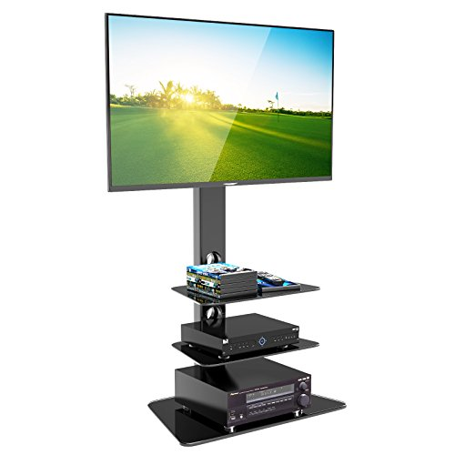 "1home FIG-3 - TV Supporto in vetro temperato con staffa girevole per 27-55"" LCD/ Plasma"