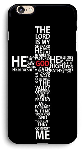 Schönes Design Gott Jesus Christus Christian Kreuz iPhone Fall, PC Hard Case für iPhone, 6/6s, Schwarz