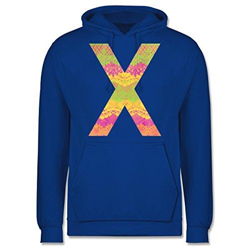 Statement Shirts - Neon Lace X - Männer Premium Kapuzenpullover / Hoodie Royalblau