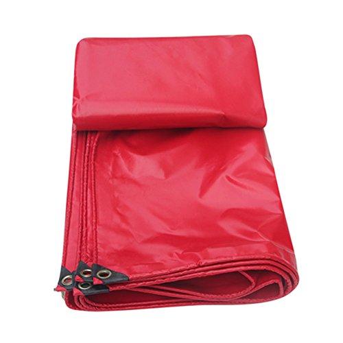 WUFENG Telone Rosso PVC Panno Di Plastica Rifugio Contro La Pioggia Impermeabile Tela Poncho Ombra Protezione Solare Celebrazione Cambio Di Turno Notturno 0,32 Mm Di Spessore Un Metro Quadrato 450 G