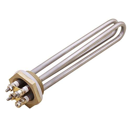 """Aiicioo 48v 1500w Elemento de Calefacción Material de Acero Inoxidable Grado Alimenticio Resistencia para Calentador 1.25"""" BSP Thread"""
