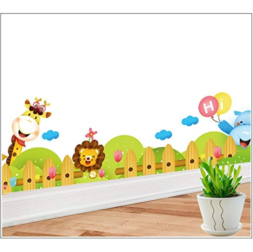 (Zxfcczxf Cartoon Zoo Wall Decal Aufkleber Kinderzimmer Kinderzimmer Wand Grenze Kunst Wandbild Poster Ecke Der Wand Dekoration Wallpaper Applique)