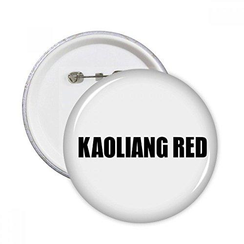 DIYthinker Kaoliang Rot Farbe Schwarz-Name Runde Pins Abzeichen-Knopf Kleidung Dekoration 5pcs Geschenk Mehrfarbig XL