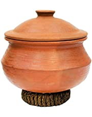 Craftsman India online Earthen Clay Pot for Cooking (3 L)