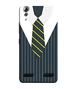 Lenovo A6000, Lenovo A6000 Plus, Lenovo A6000+ Back Cover Executive Dress With Tie Design From FUSON