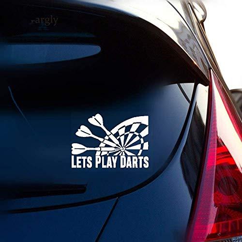 15,3 Cm * 12,6 Cm Interessantes Auto Styling Lässt Spielen Darts Auto Aufkleber Aufkleber C11 2122 für auto laptop fenster aufkleber