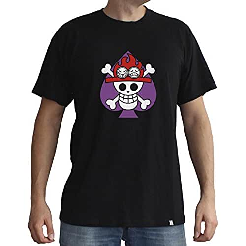 ONE PIECE - Tshirt Ace spade man MC black - basic