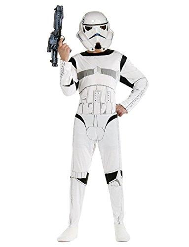 Taglia l - 9-10 anni - costume - travestimento - carnevale - halloween - guerriero bianco - stormtrooper - star wars - bambino