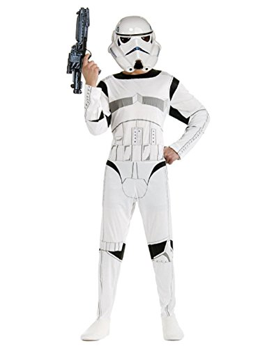 Taglia m - 7-8 anni - costume - travestimento - carnevale - halloween - guerriero bianco - stormtrooper - star wars - bambino