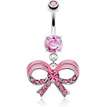 Piercing Nombril Noeud AMALYA Rose