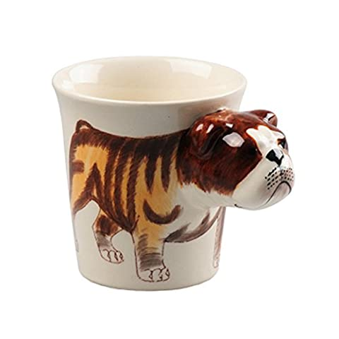 Lovely Unique 3D Coffee Milk Tea Ceramic Mug Cup With Terry dog Best Gift