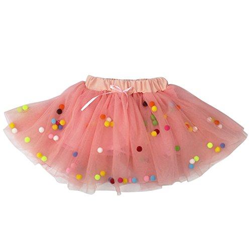 Cotton Kostüm Ball - De feuilles Mädchen Kinder Kostüm Partei Bunter Ball Tanzkleid Rock Prinzessin Kleid Ballettrock Minirock