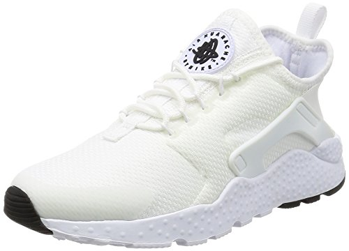 Nike Damen Air Huarache Run Ultra Laufschuhe, Weiß (White/White-White-Black), 39 EU (Womens White Huarache)