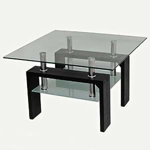 Design table en verre table en acier inoxydable 70x70 cm for Table 70x70 design